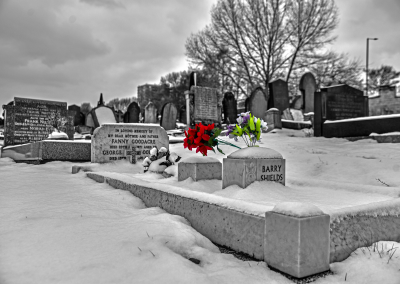 Graves in the snow